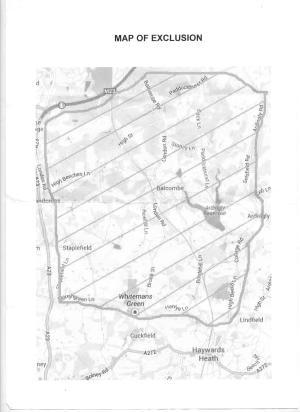 Map of original exclusion zone