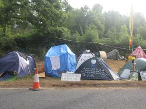 The camp outside Cuadrilla's site