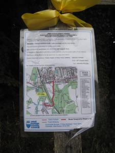 Footpath diversion near drilling site