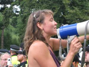 Leading protest singing