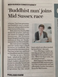 Cutting from today's Mid Sussex Times