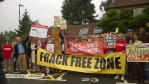 Campaigners celebrate after rejection of Celtique Energie's drilling application