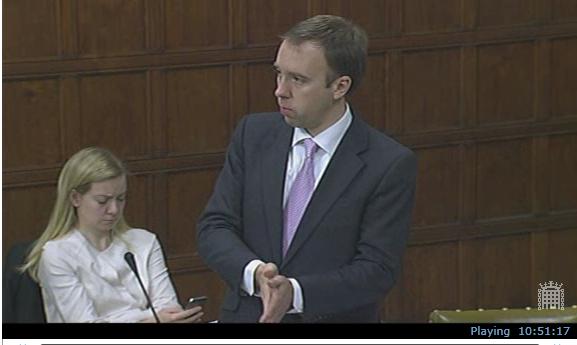 Energy Minister, Matthew Hancock, speaking during the adjournment debate on fracking