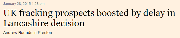Financial Times headline