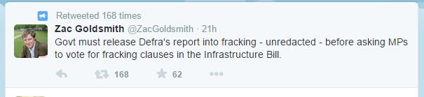 Zac Goldsmith's tweet