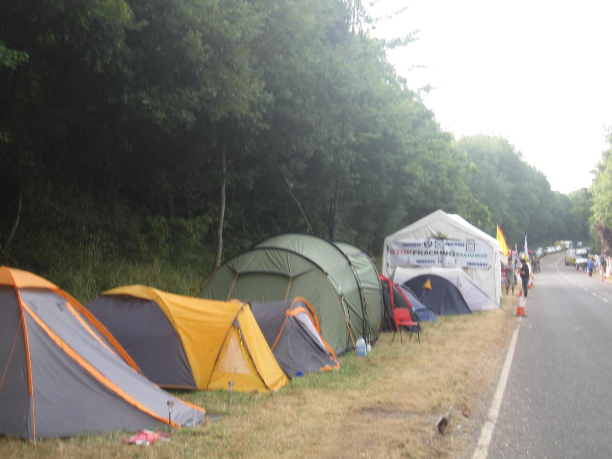 Tents at the Balcombe Protection Camp, West Sussex, August 2013