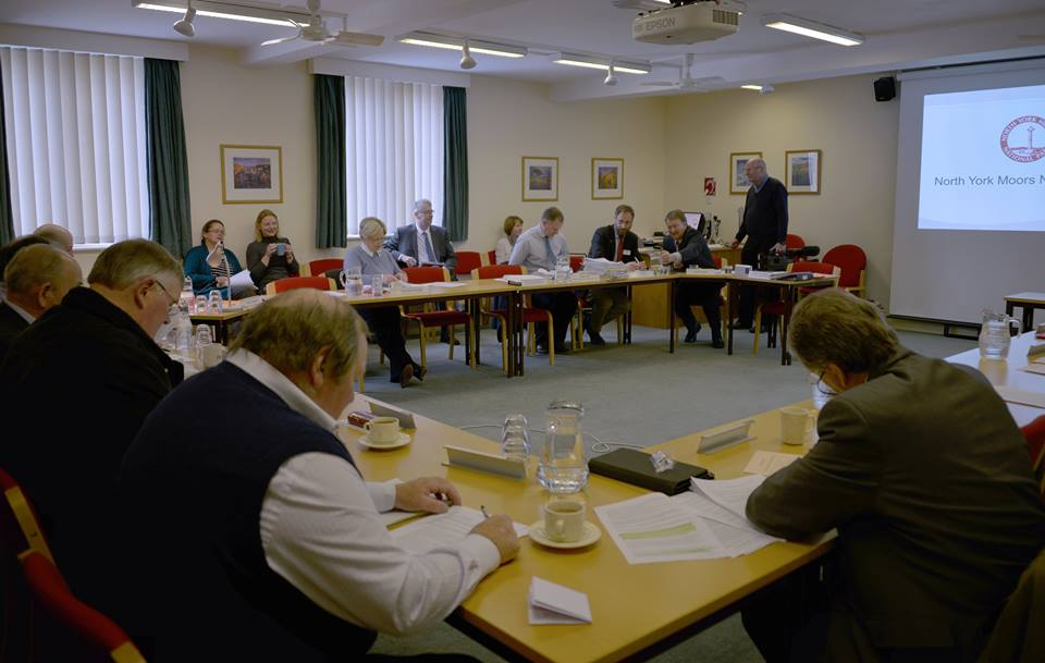 North York Moors National Park Authority planning committee meeting in Helmsley. Picture by Dave Marris