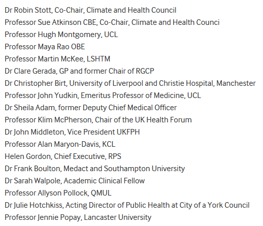 Signatories of the BMJ letter