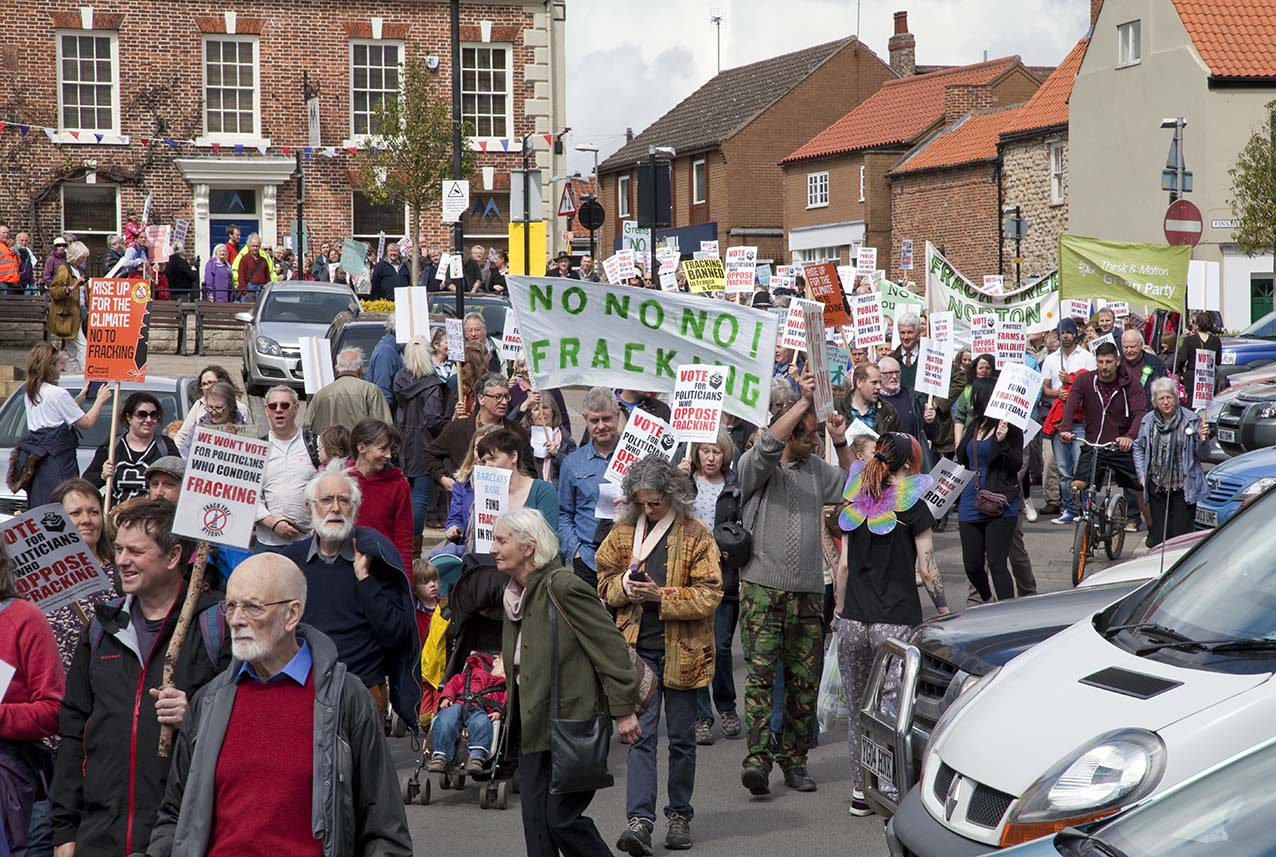 Anti-fracking march in Ryedale. Picture by Richard Watson