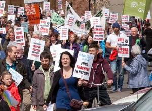 Anti-fracking rally in Malton