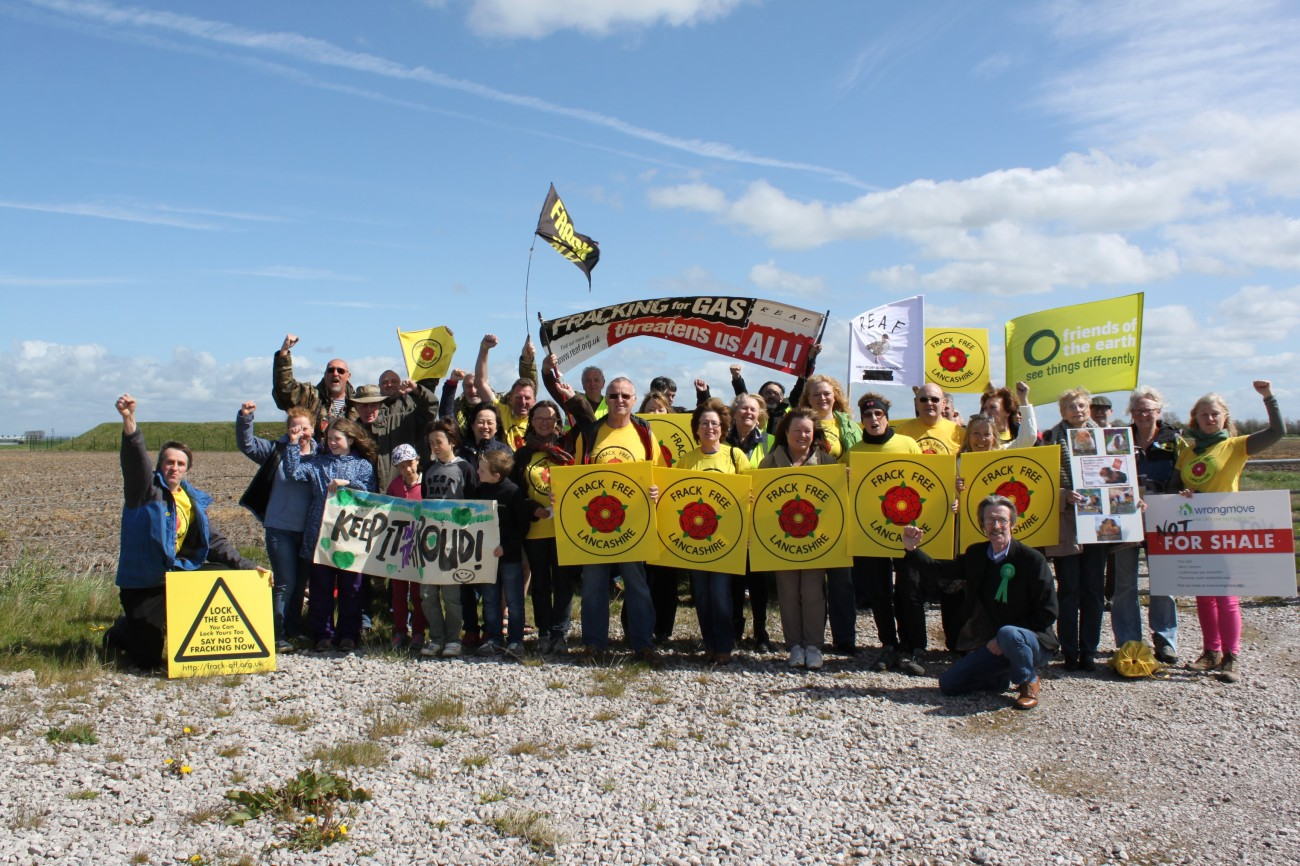 Opponents gather outside Cuadrilla's Becconsall site