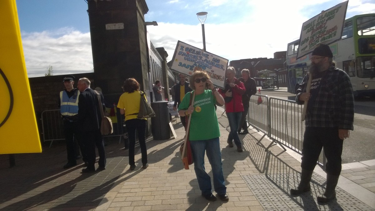 A campaigner at the rally in Preston on Tuesday 23rd June