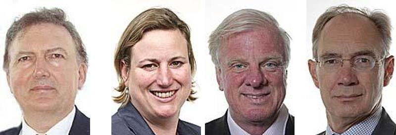 From left: MPs Sir Greg Knight, Antoinette Sandbach, Sir Edward Leigh, Andrew Turner