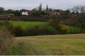 The proposed site of Dark Lane, Calow