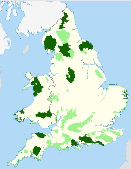 English AONBs and NPs