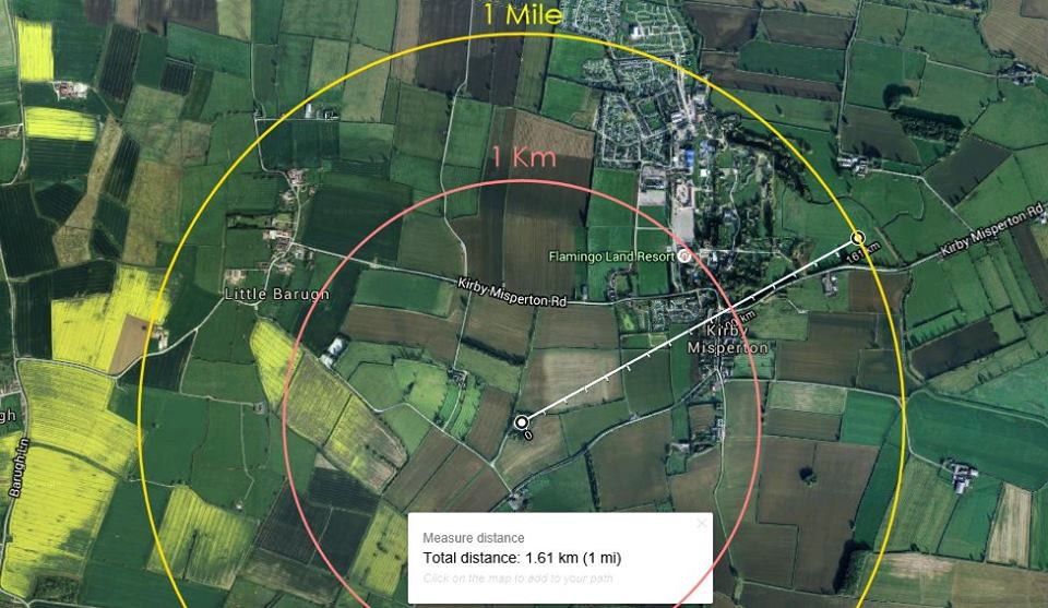 KM8 radius