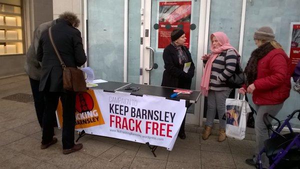Barnsley information stall