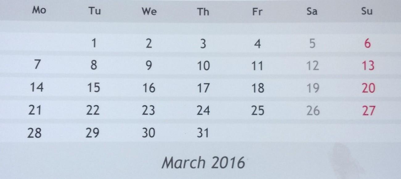 DiaryMarch 2016