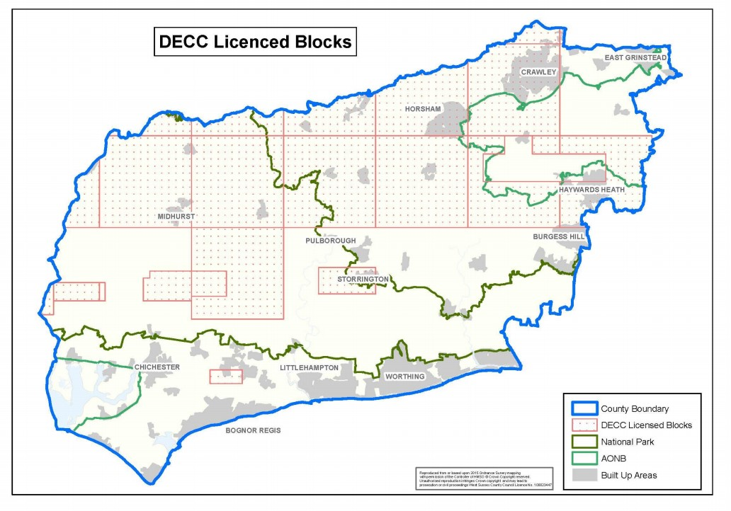 West Sussex licences and protected areas