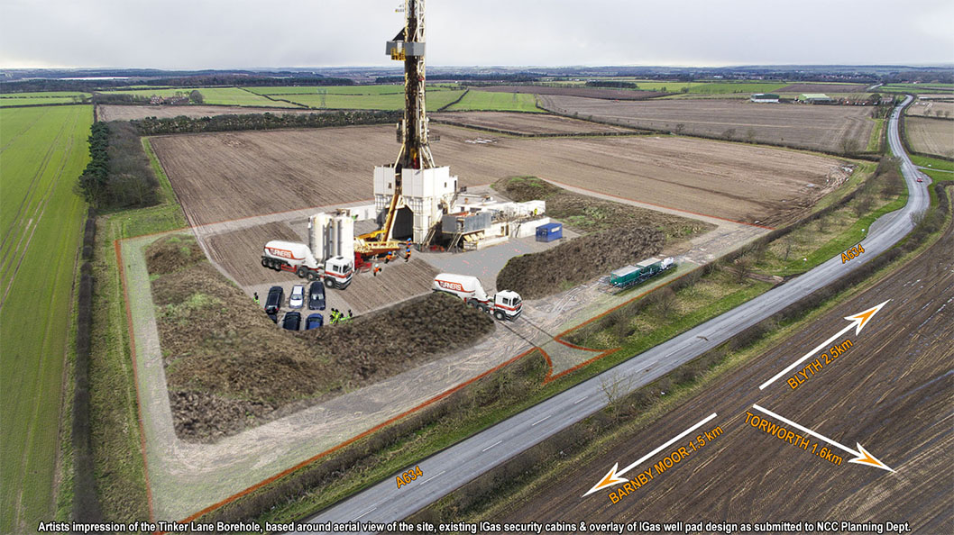 IGas plan for Notts shale gas drilling at Tinker Lane open