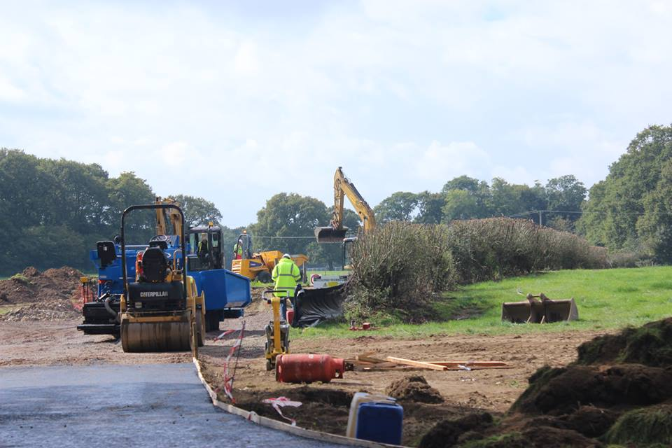 Broadford Bridge site preparation