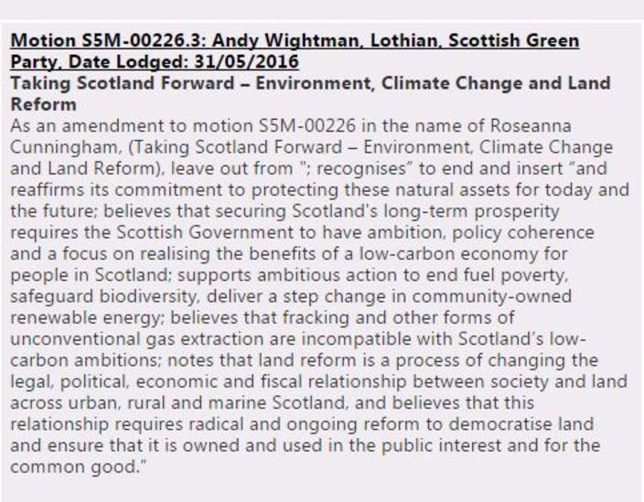 Greens amendment