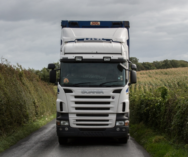 Part of the lorry route to Cuadrilla's proposed Roseacre Wood site