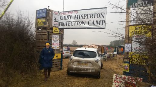 Kirby Misperton Protection Camp, North Yorkshire. Photo: Roseacre Awareness Group