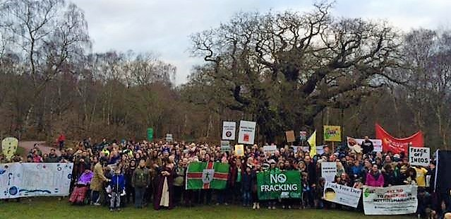 sherwood-forest-protest-160107-frack-free-nottingham