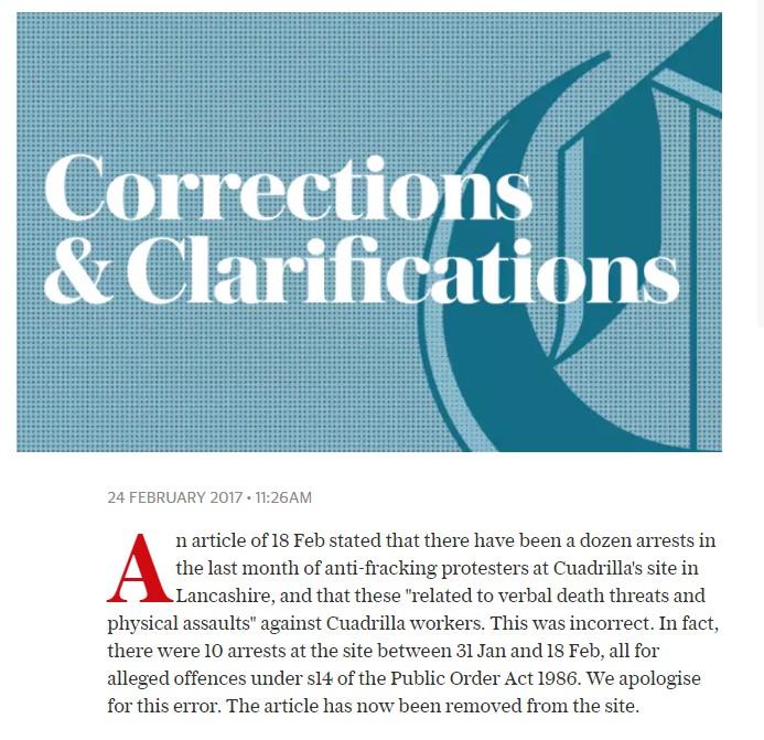 telegraph-correction