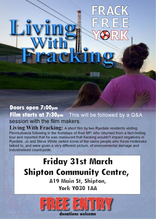 Living with Fracking Shipton poster