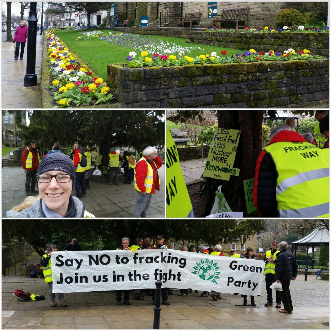 No fracking Way Ilkley half way point Louise Galvin