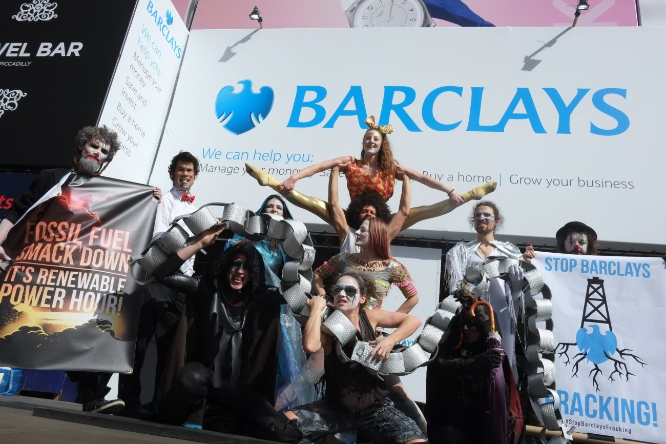 Barclays Bank Piccadilly 170405 Marcin Nowak Reclaim the Power