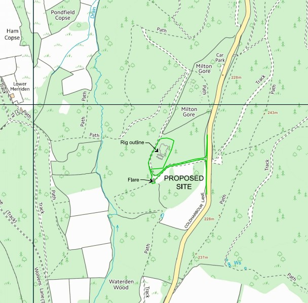 Bury Hill Wood Holmwood map