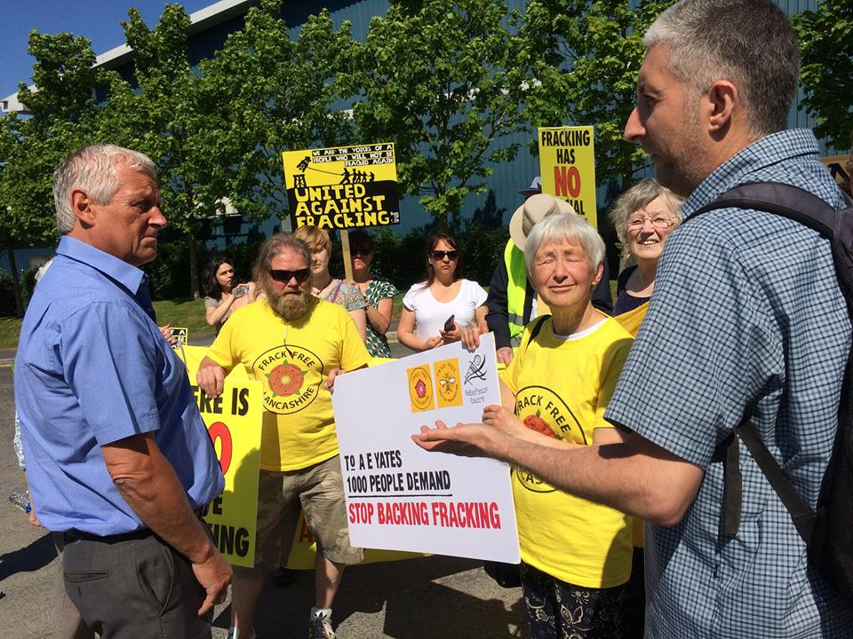 A E Yates petition Frack Free Manchester