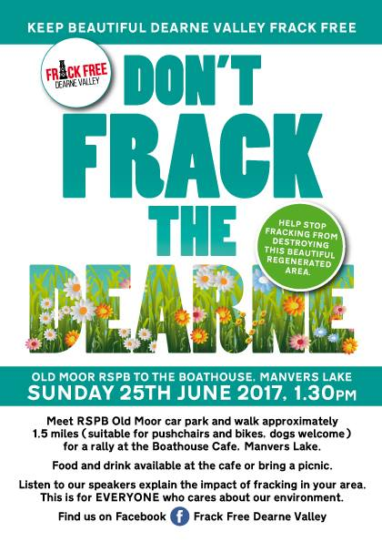 Frack Free Dearne Valley poster