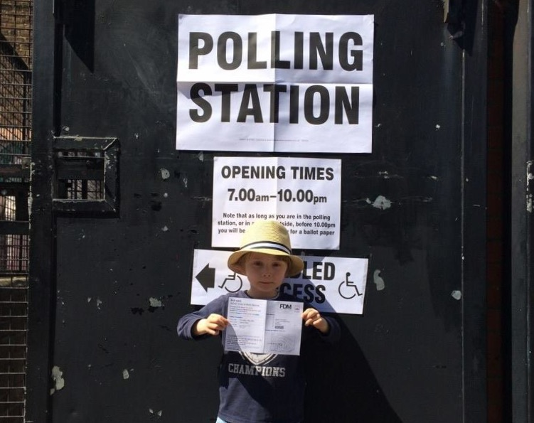 Frack Free United and Cross Party Frack free polling station