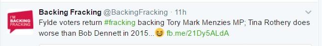Backing fracking election 2017