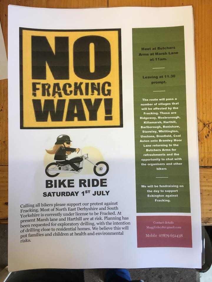 no fracking bike ride