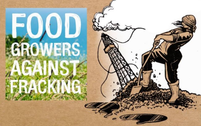 Food Growers Against Fracking poster