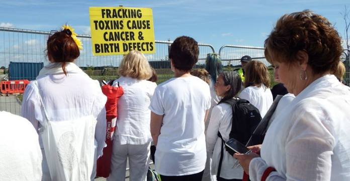 Cuadrilla's Preston New Road site, 16 August 2017. Photo: Cheryl Atkinson