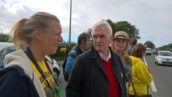 John McDonnell at Preston New Road, 15 September 2017. Photo: Roseacre Awareness Group