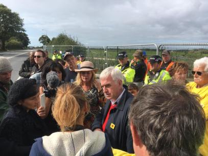 John McDonnell at Preston New Road, 15 September 2017. Photo: Refracktion