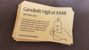 candlelit vigil flyer