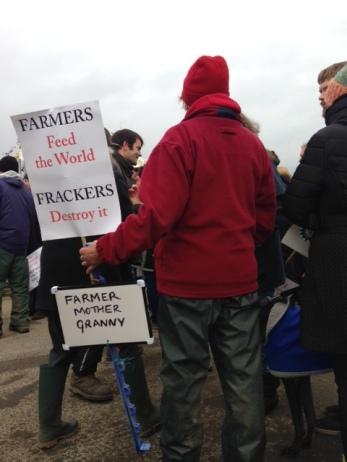 Scarecrows against Fracking event, Kirby Misperton, 7 November 2017. Photo: Jon Mager
