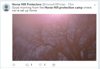 171130 Horse Hill Protection camp occupation