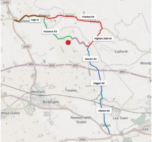 Cuadrilla Roseacre Wood proposed traffic routes