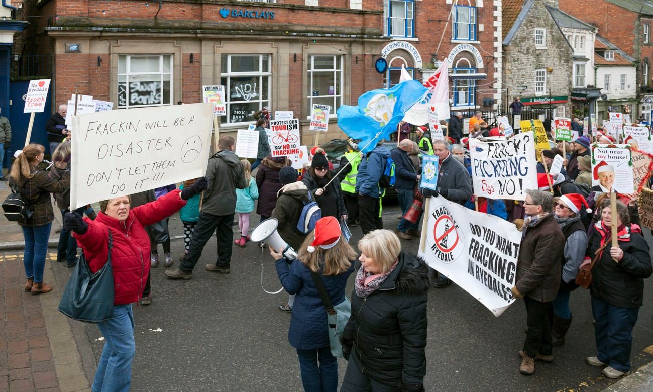 Barclays Bank own Third Energy, who are trying to Frack at Kirby Misperton, near Pickering