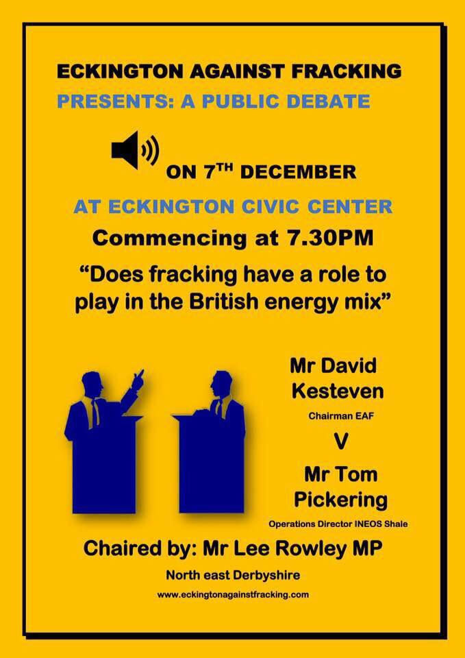 171207 debate Eckington Against Fracking