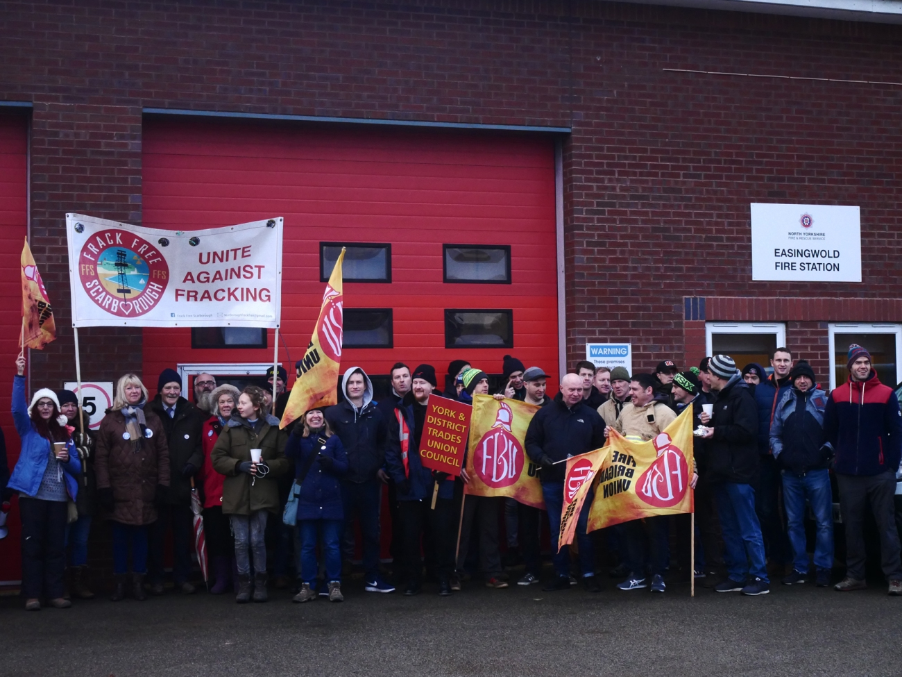 171213 Easingwold Fire Atuthority protest KMPC
